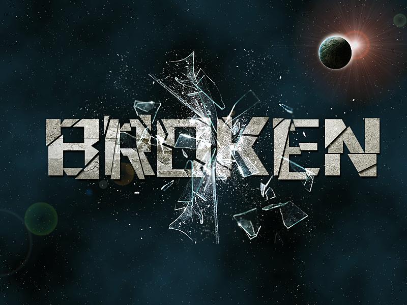 破碎的字体