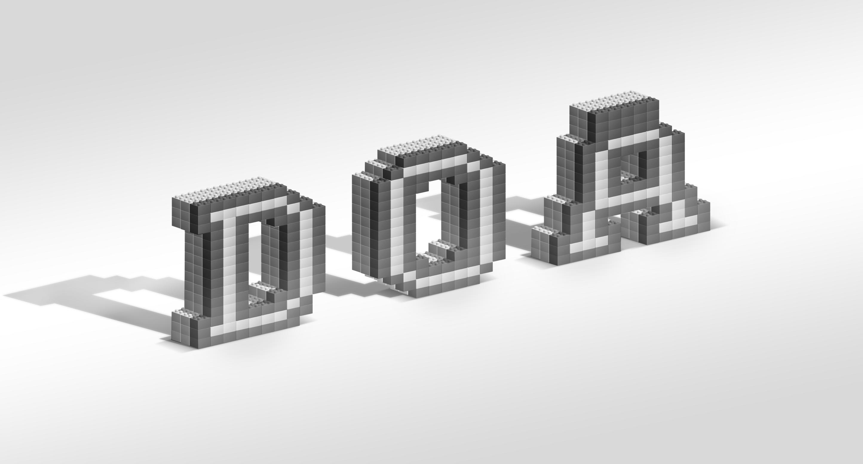 乐高积木组成的字母